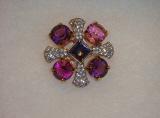 Swarkovski Crystal Brooch Pin