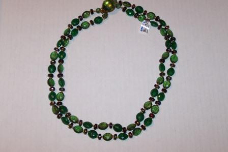 Vintage Green double strand choker