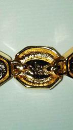 Gold Pearl Crystal Bracelet 1