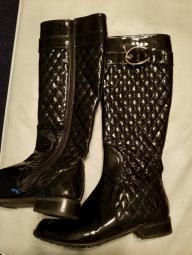 Stuart Weitzman Black quilted boots 7 M 1